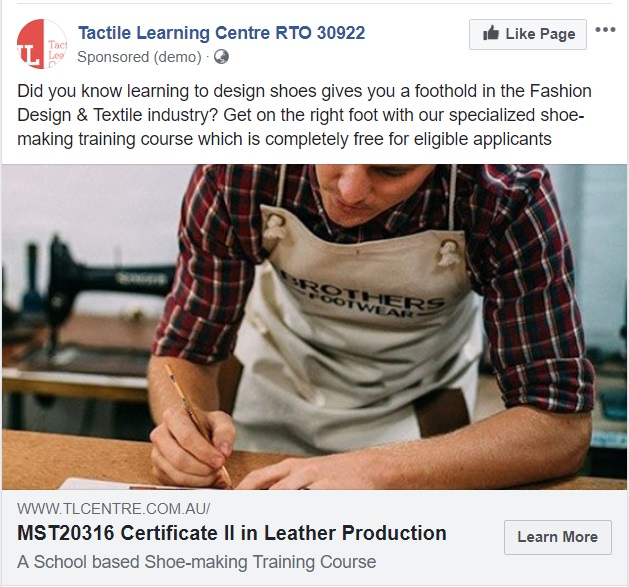 Marketive Minds | Tactile Learning Centre – Shoe Making